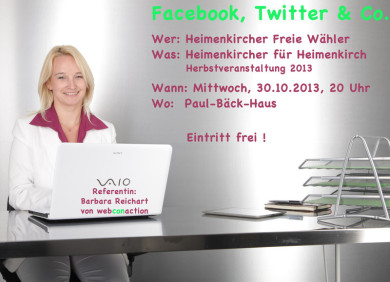 webconaction Vortrag zu Social Media, Facebook, Twitter und Co